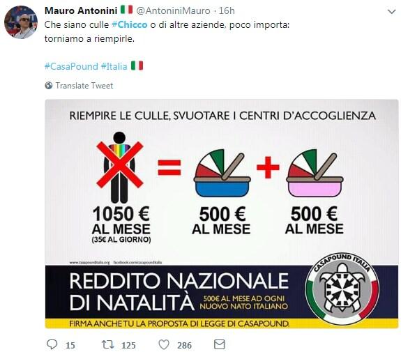 chicco pubblicità nascite italia casapound - 3