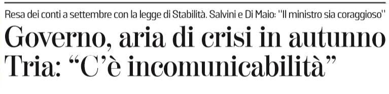 crisi governo autunno