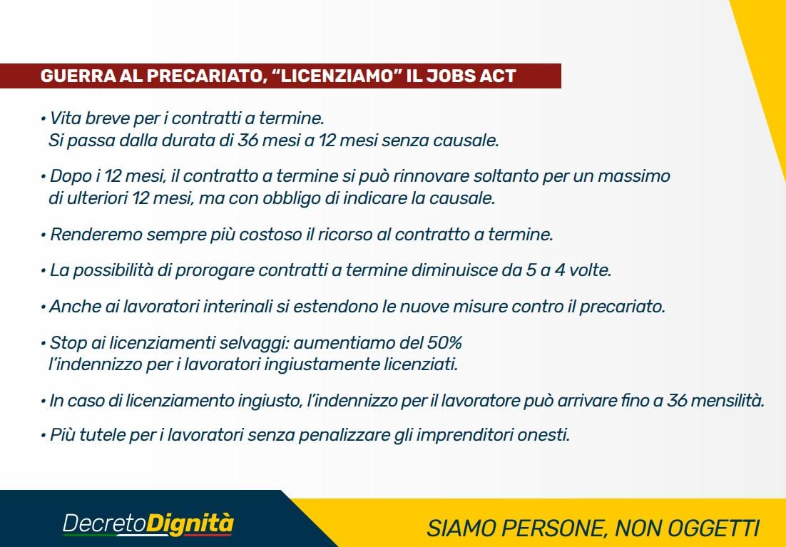 decreto dignità relazione tecnica aumento disoccupati - 1