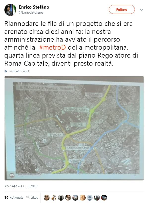 enrico stefàno m5s metro D roma - 1