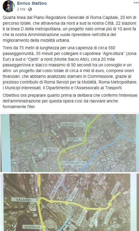 enrico stefàno m5s metro D roma - 3