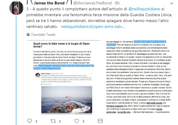 james the bond open arms salvini libia - 4