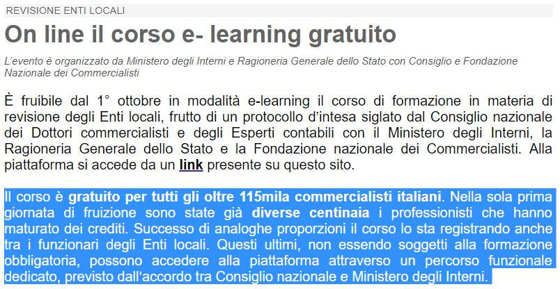 laura castelli corso di e-learning