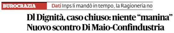 luigi di maio manina mail decreto dignità