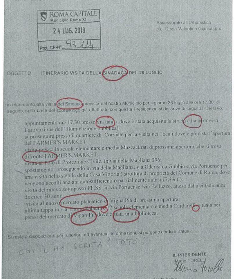 mario torelli lettera presidente municipio dieci errori