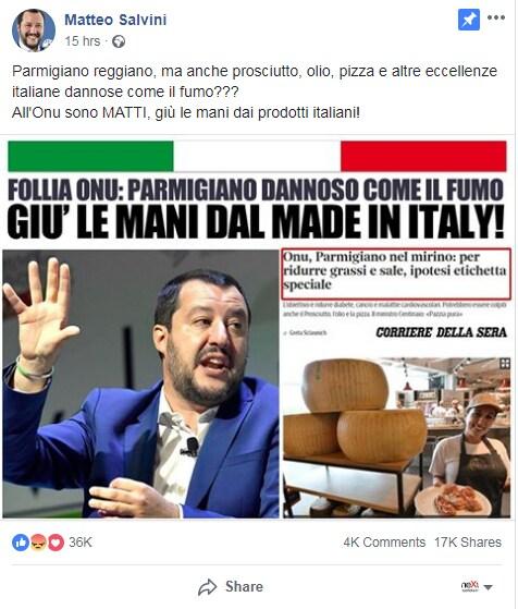 matteo salvini parmigiano OMS - 1
