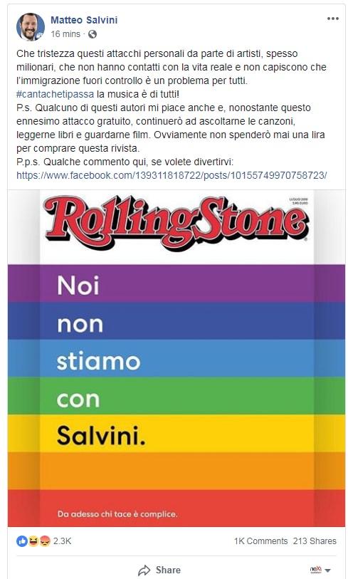 matteo salvini shitstorm rolling stone - 2