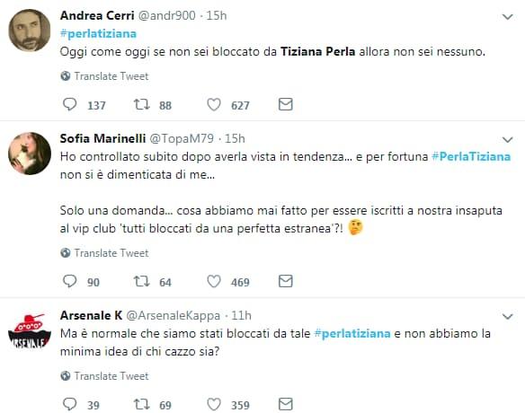 perla tiziana twitter pollice opponibile bloccato - 6