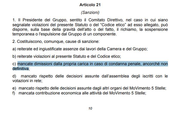 sarti lannutti d'ippolito m5s regole statuto espulsione - 1