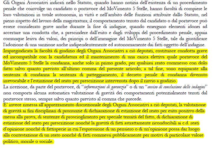 sarti lannutti d'ippolito m5s regole statuto espulsione - 2