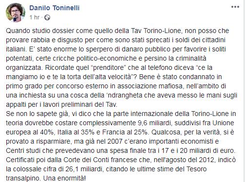toninelli renzi tav - 1