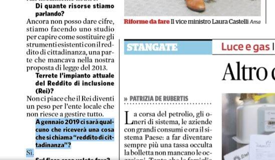 LAURA CASTELLI REDDITO DI CITTADINANZA