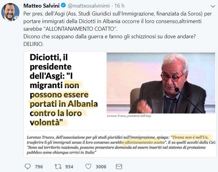 albania salvini conte