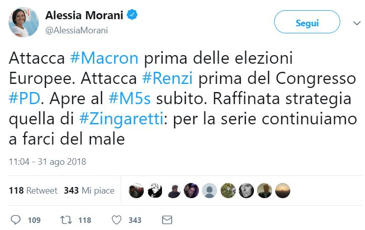 alessia morani zingaretti macron