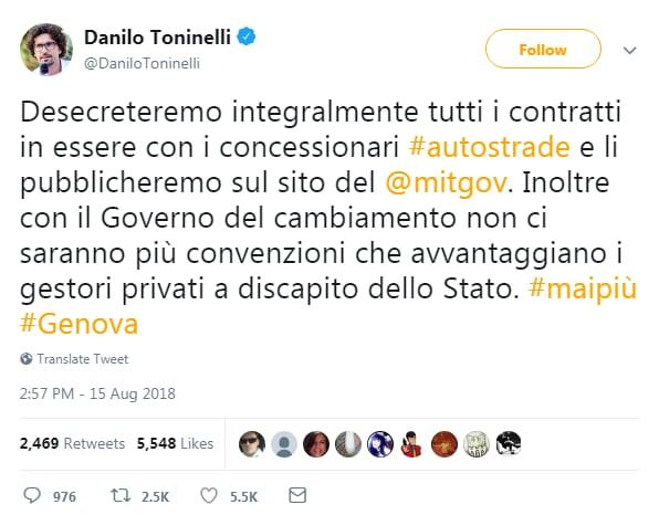 autostrade per l'italia convenzione genova ponte morandi - 2