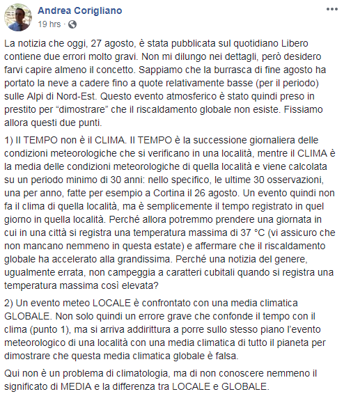 bufale agosto global warming libero - 2