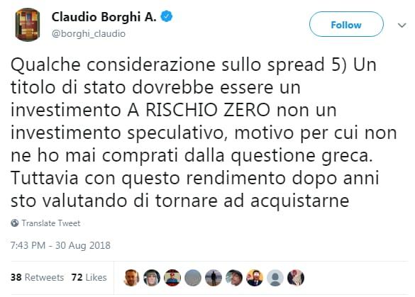 claudio borghi spread bpt bot rendimento - 1