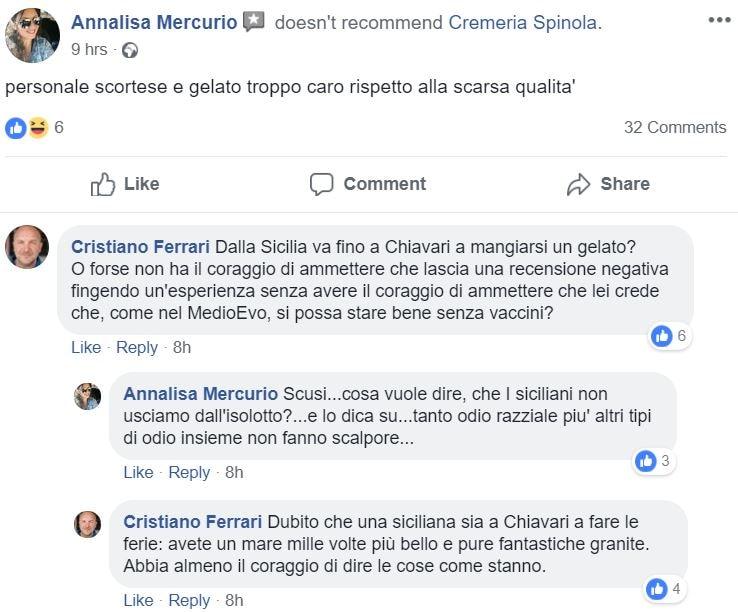 cremeria spinola no vax free vax 1