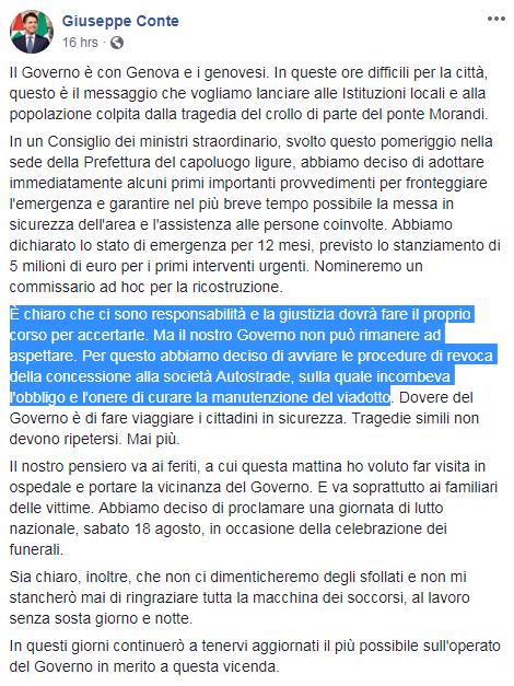 governo atlantia genova ponte morandi - 2