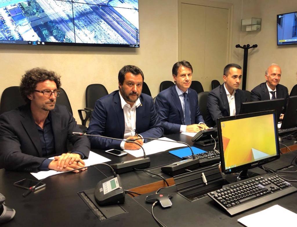 governo conte salvini di maio toninelli genova ponte morandi - 3