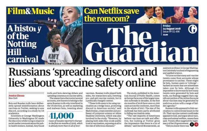 guardian troll russi bot vaccini no vax - 1