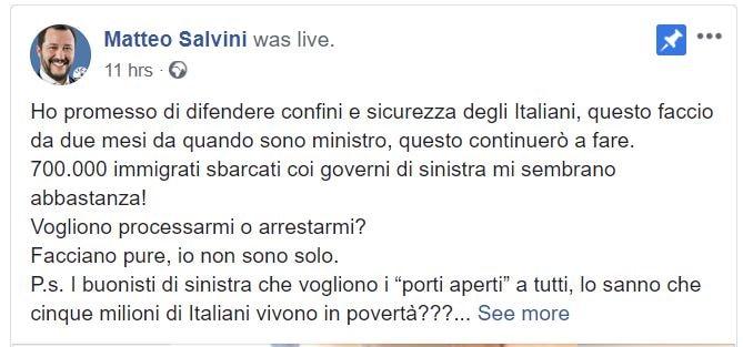 Risultati immagini per Salvini indagato