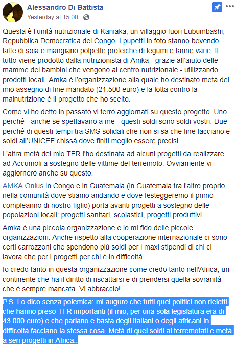 michele dell'orco di battista microcredito tfr restituzione - 1