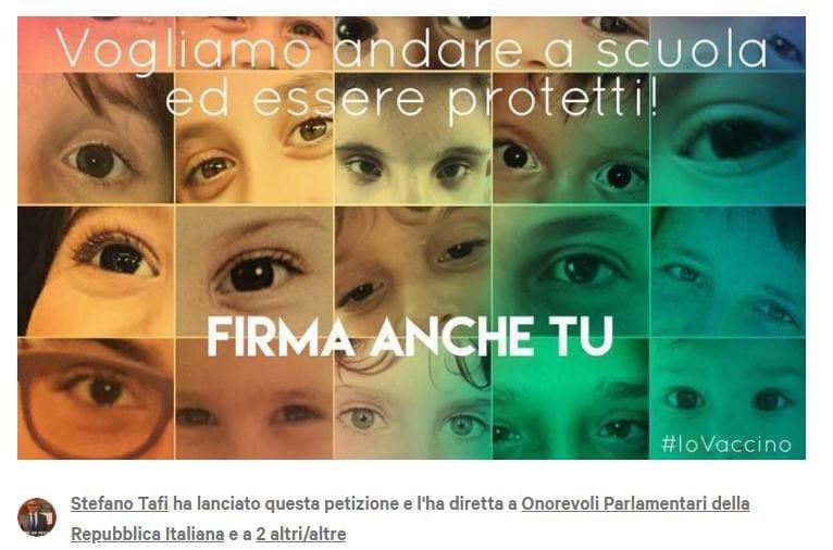 petizione bambini immunodepressi