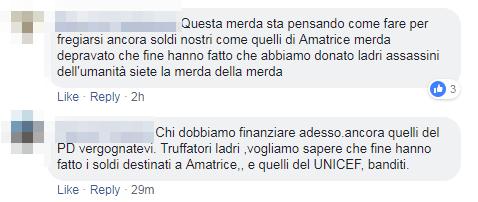 raccolta fondi pd genova amatrice complotto - 5