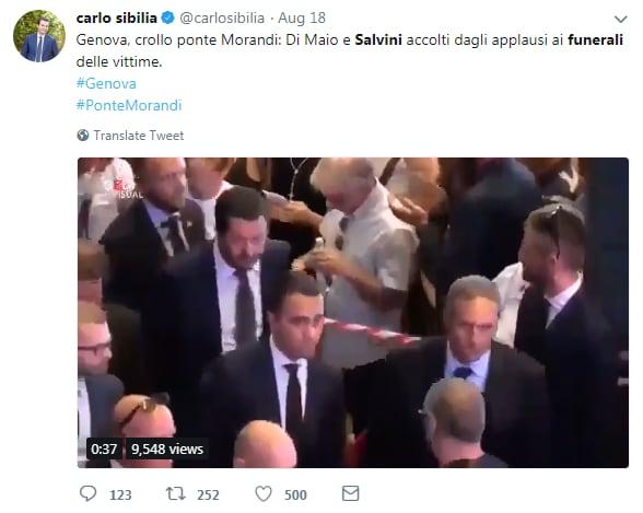 vittime viareggio funerali genova morandi fischi claque - 4