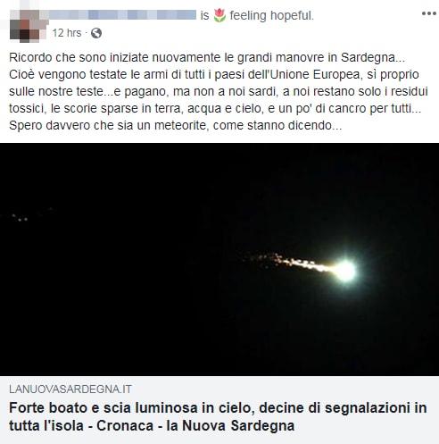 bolide meteorite sardegna 20 settembre - 5