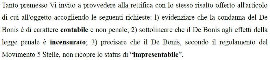 de bonis condanna corte dei conti statuto m5s - 1