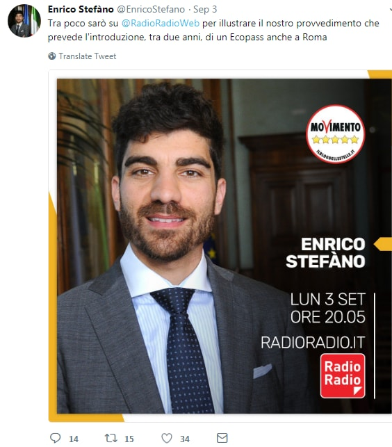 enrico stefàno ecopass roma - 2