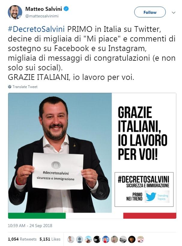 luca morisi decreto sicurezza salvini trending twitter - 3
