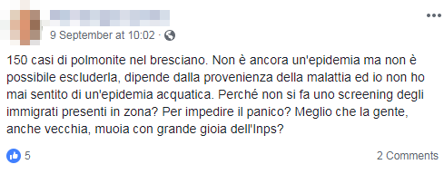 polmonite brescia immigrati complotto - 3