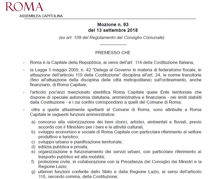 poteri roma capitale stanziamento mozione meloni bocciata - 2