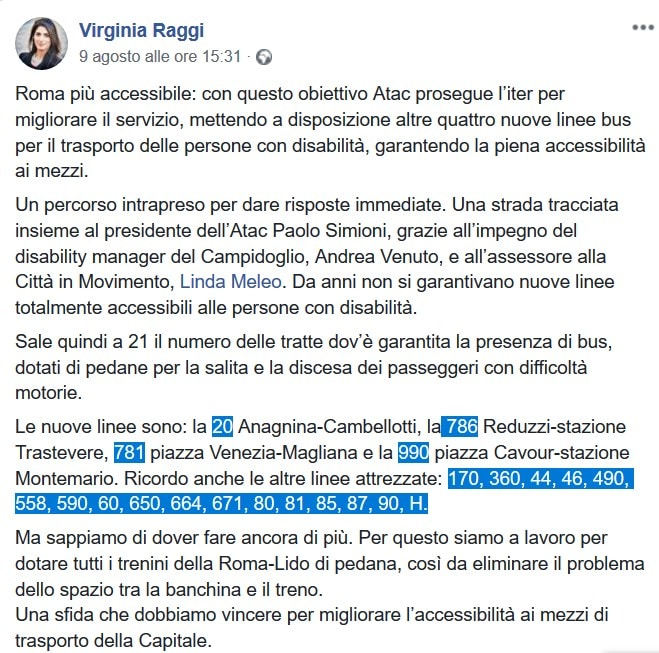 raggi atac linee totalmente accessibili disabili fact checking - 1