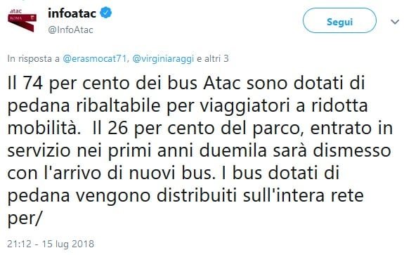 raggi atac linee totalmente accessibili disabili fact checking - 7