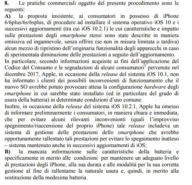 ANTITRUST multa apple samsung obsolescenza programmata -1