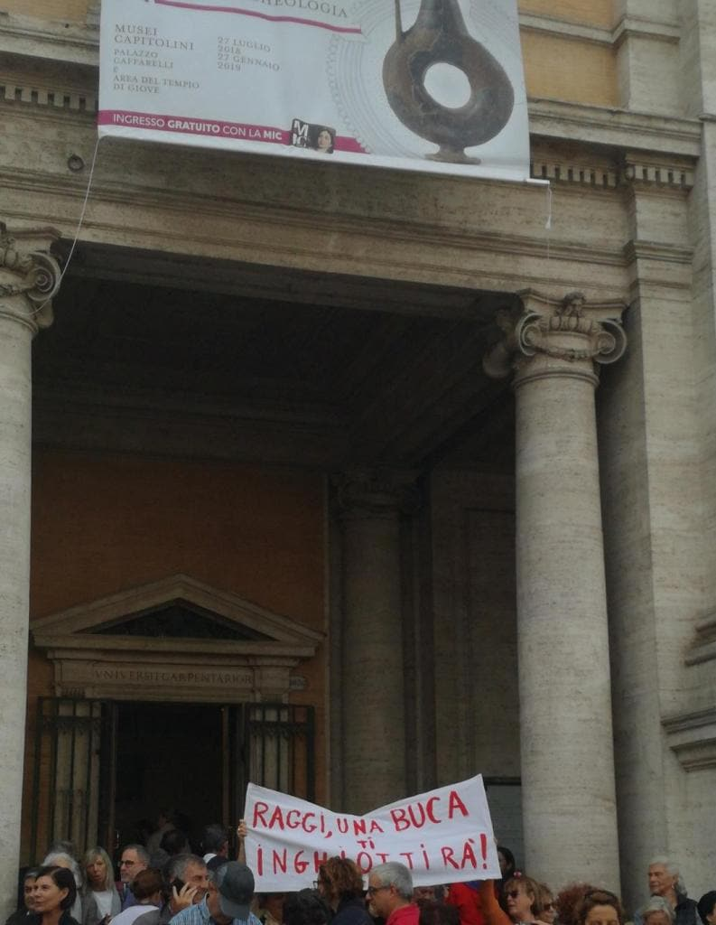roma dice basta manifestazione