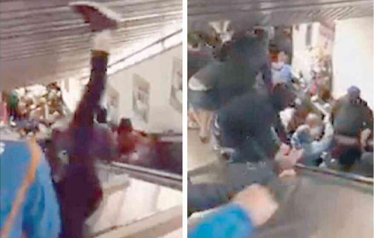 crollo scala mobile metro repubblica