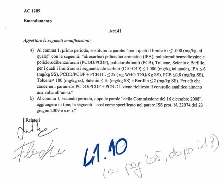 decreto genova fanghi idrocarburi toninelli - 2