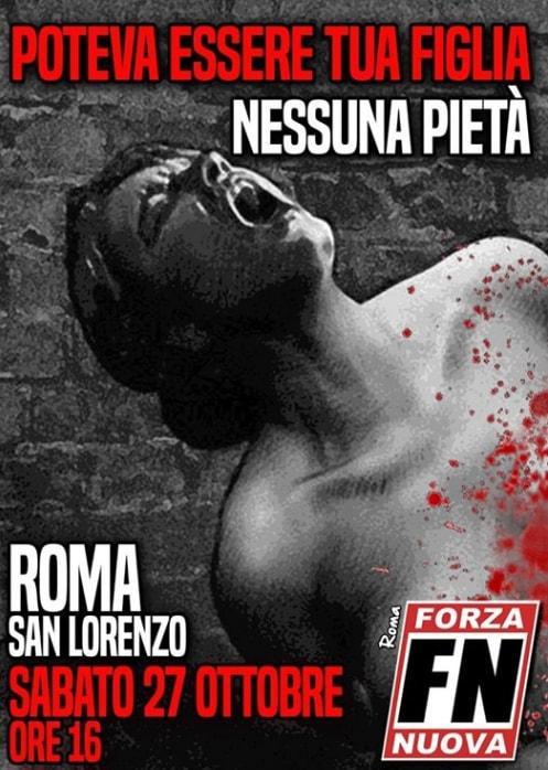 forza nuova desiree mariottini san lorenzo - 12