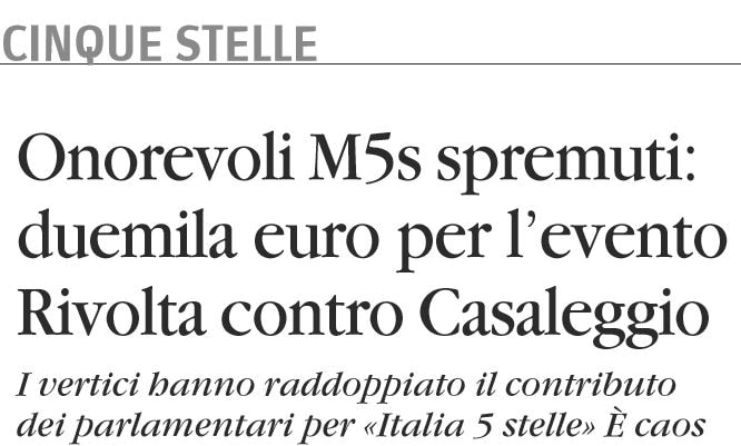 italia 5 stelle 2000 euro