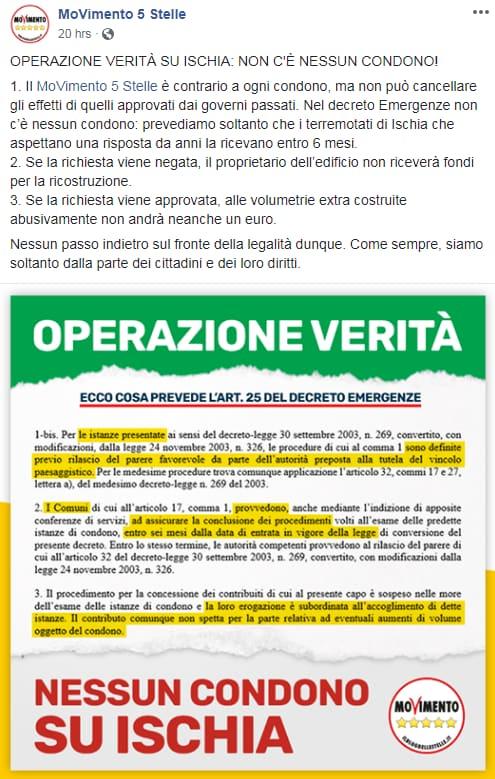 m5s decreto genova condono ischia - 1