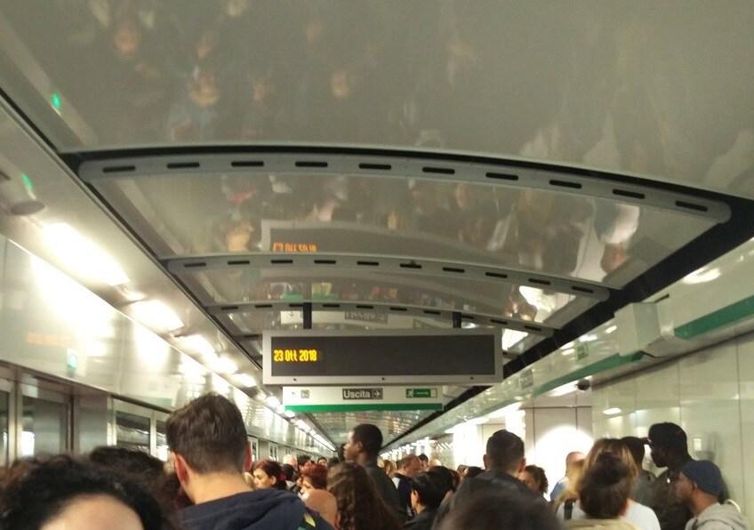 metro c roma evacuazione
