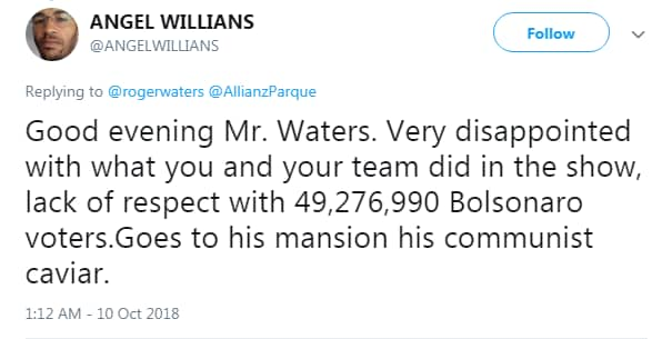 roger waters bolsonaro neofascista - 1
