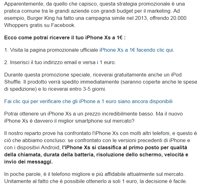 AXS256RTR iphone xs un euro truffa - 10