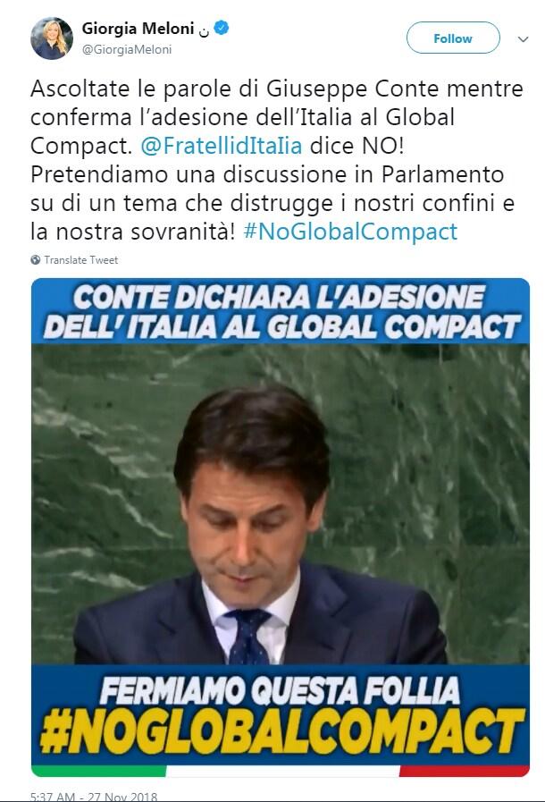 GLOBAL COMPACT migranti governo - 1