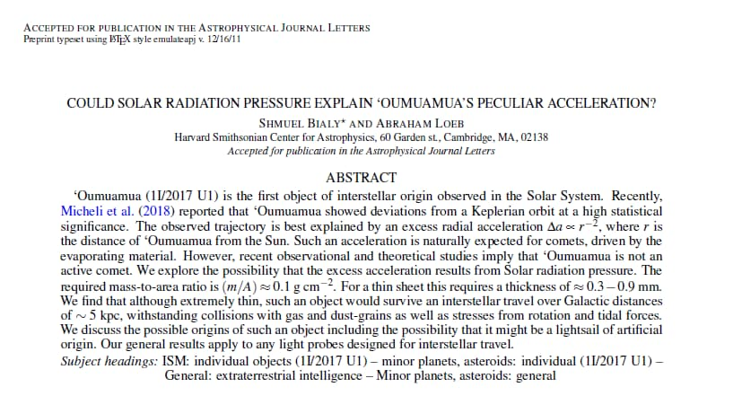 Oumuamua sigaro alieno asteroide - 3